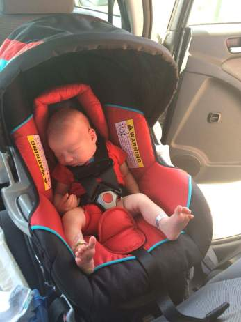 First car ride... he cried so hard and I thought I was going to die from upset-ness